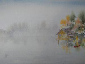 Misty Morning Lakeside